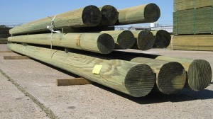 green treated cca poles